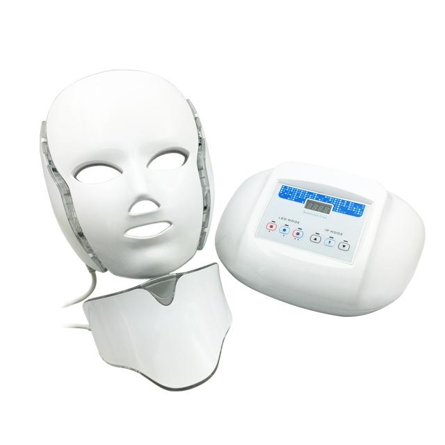 LEDマスク美顔器、首ユニット付き